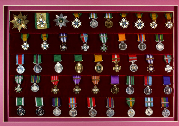 The full description of the rhodesian awards and for Awards decoration
